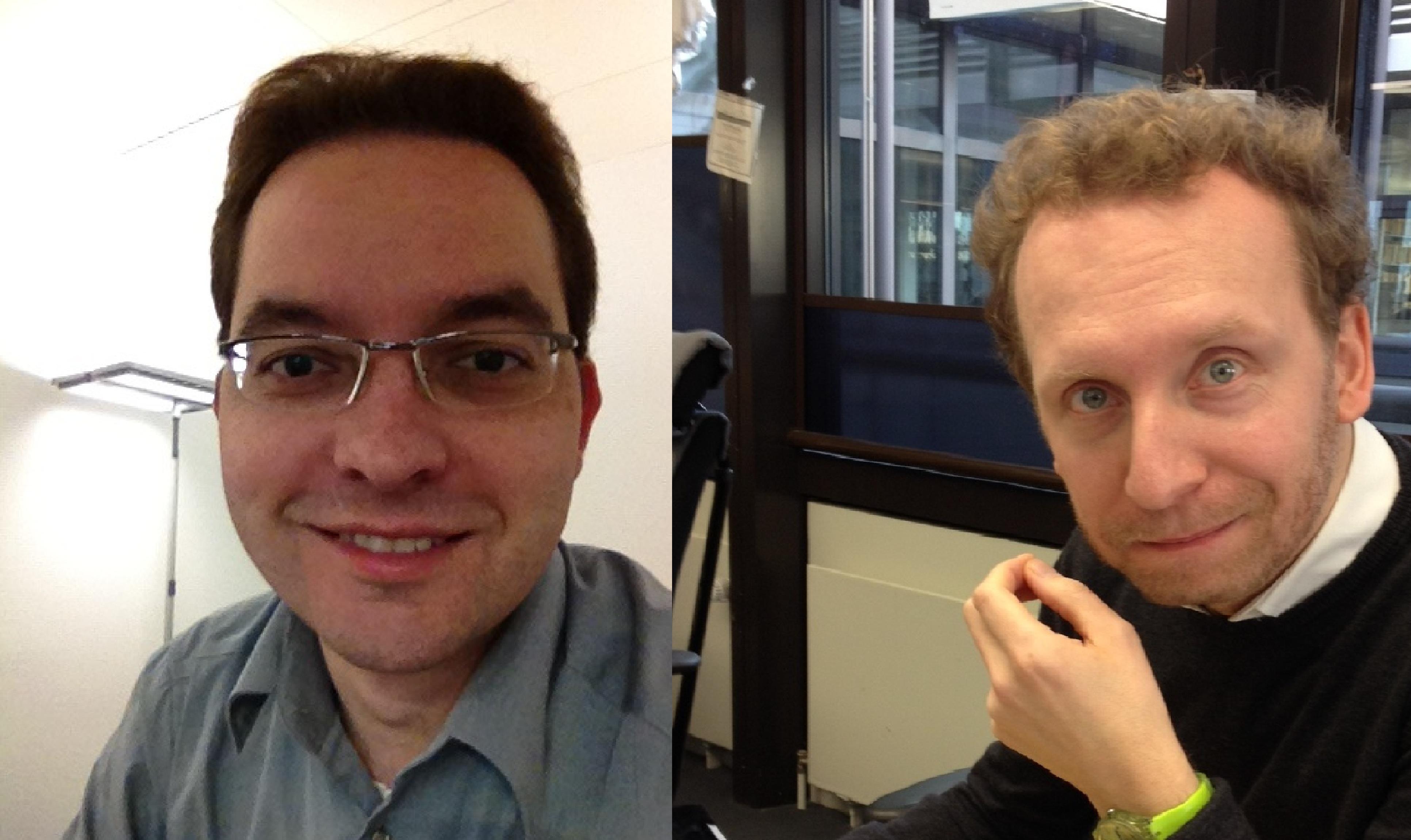 Oliver Havlat, Redaktionsleiter bei RP-Online und Marc Hippler, Chef vom Dienst bei RP-Online