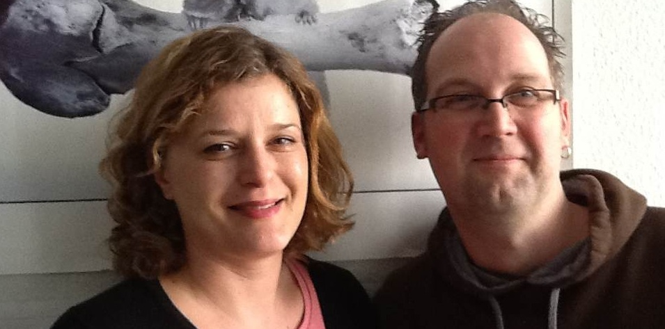 Jan Eggers und Susanne Mayer. An der hr-Online-Front unterwegs, was bei einem so riesigen Laden, garnicht so leicht ist.